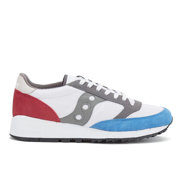 Saucony Men's Jazz 91 Trainers - White/Blue/Red