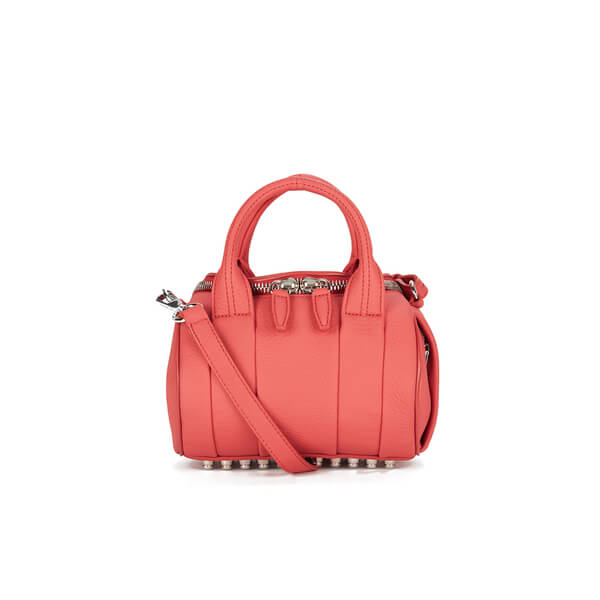 Alexander Wang Women's Mini Rockie Pebbled Leather Bag - Coral