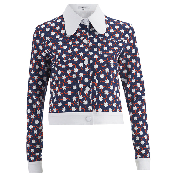 Carven Women's Denim Printed Jacket - Multi