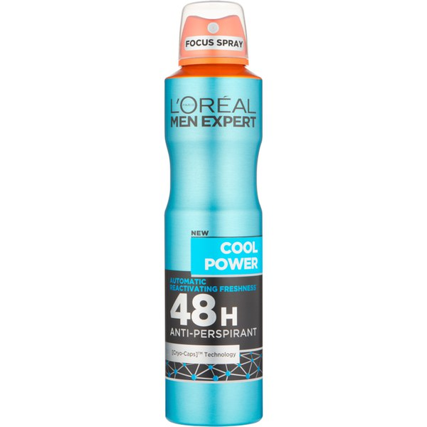 Anti-transpirant Cool Power 48 heures Men Expert L'Oréal Paris 250 ml