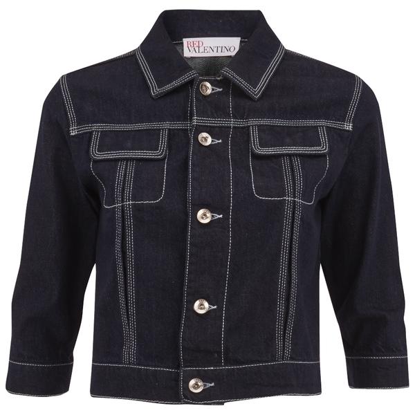 REDValentino Women's Cropped Denim Jacket - Blue