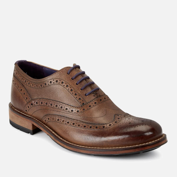 3364aa46c0161 Ted Baker Men s Guri 8 Leather Brogues - Tan  Image 6