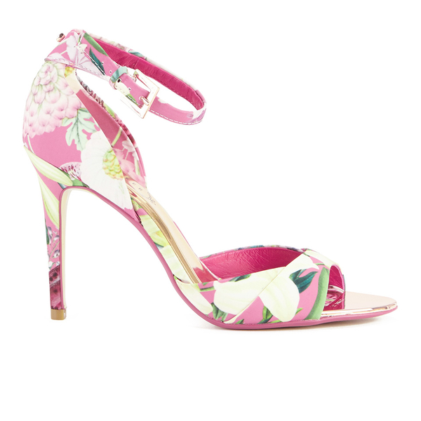 687d40c84 Ted Baker Women s Caleno Heeled Sandals - Encyclopedia Floral  Image 1