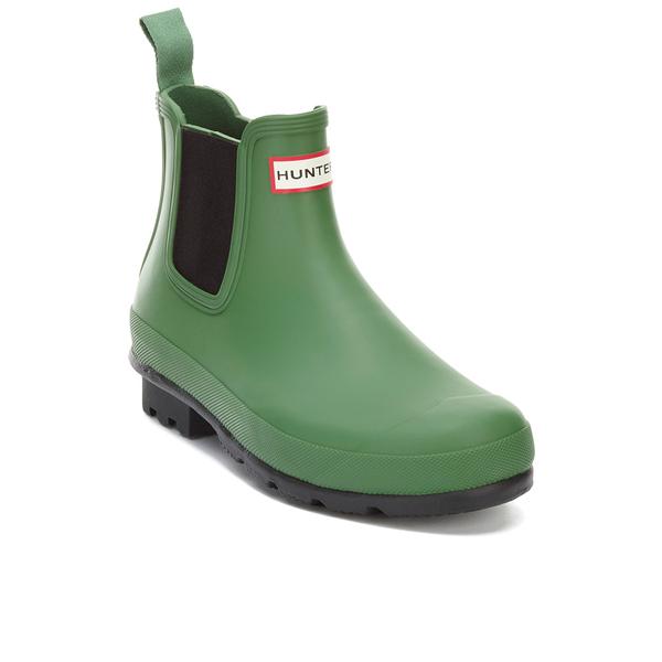 Hunter Men's Original Dark Sole Chelsea Boots - Bright Grass - UK 6