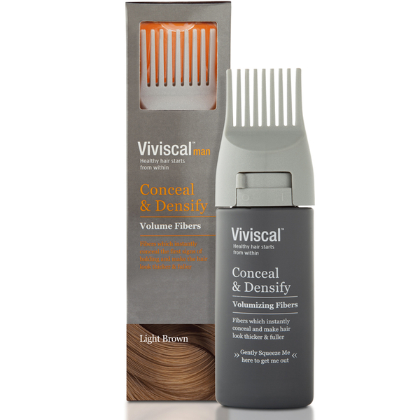 Viviscal Hair Thickening Fibres for Men Light - Brown