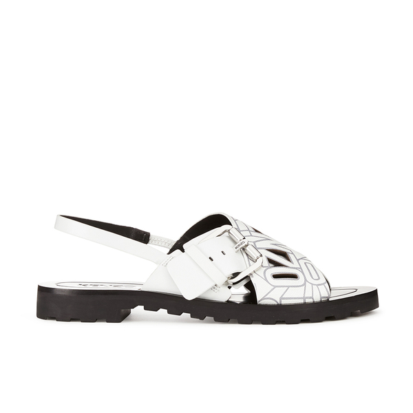 KENZO Women's Kruise Buckle Leather Sandals - White