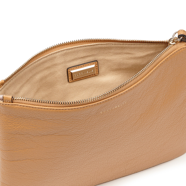 Coccinelle Women's Buste Leather Clutch Bag - Light Tan Womens ...