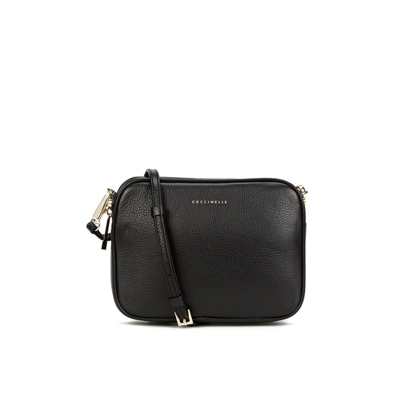 ea1e5fcc221 Coccinelle Women s Leather Zip Cross Body Bag - Black  Image 1