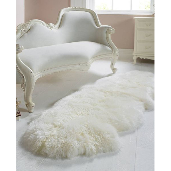 Royal Dream Large Sheepskin Rug Neutral Traditional Gifts