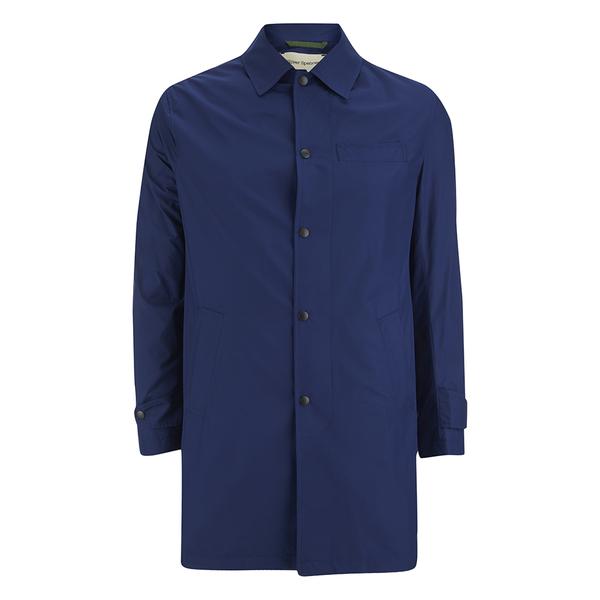 Oliver Spencer Men's Bolt Mac Coat - Lanark Blue