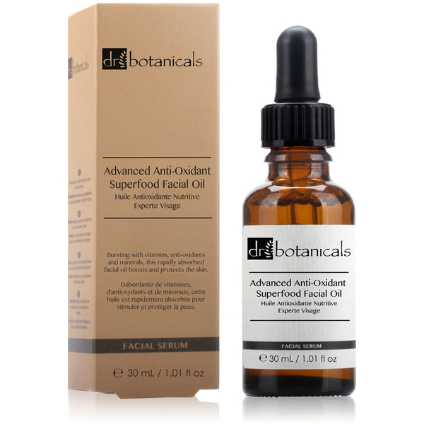 Huile antioxydante nutritive experte visage Dr Botanicals (30 ml)