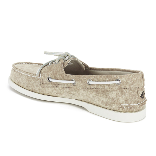 sperry s a o 2 eye white cap canvas boat shoes
