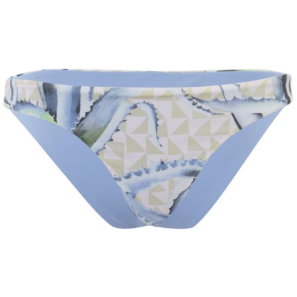 Mara Hoffman Women's Reversible Low Rise Bikini Bottoms - Aloe Pink