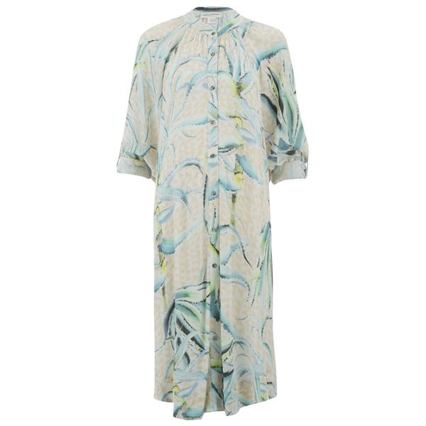 Mara Hoffman Women's Crinkle Crepe Oversized Shirt Dress - Aloe Pink