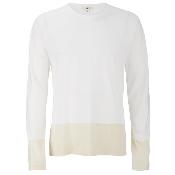 YMC Men's Block Long Sleeve T-Shirt - Cream