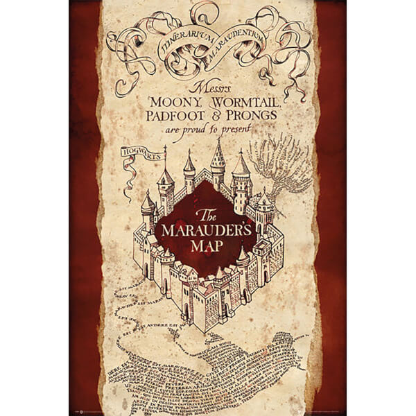 Harry Potter Marauders Map - 24 x 36 Inches Maxi Poster