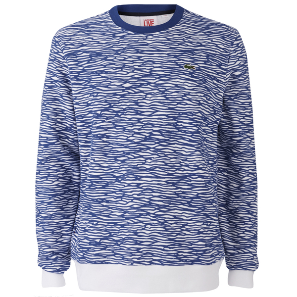 Lacoste Live Men's Printed Sweatshirt - Blue