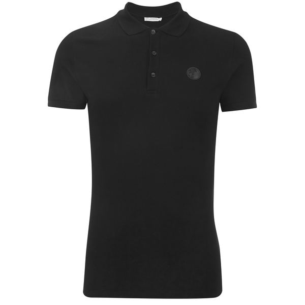 e442ddb2c3919 Versace Collection Men s Collar Detail Polo Shirt - Black - Free UK ...