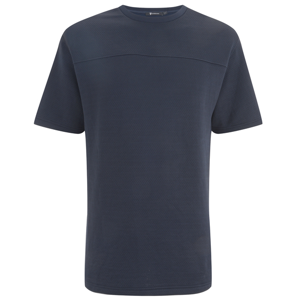 T by Alexander Wang Men's Quilting Jacquard S/S T-Shirt - Petrol