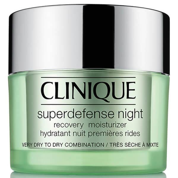 Hydratant de récupération de nuit Clinique Superdefense 50ml (Types de peaux 1/2)