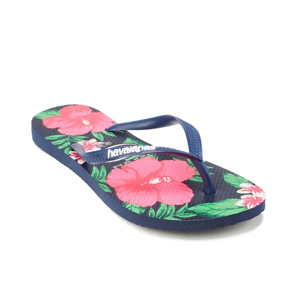 Slim Floral Navy Blue Havaianas SgSMQyV