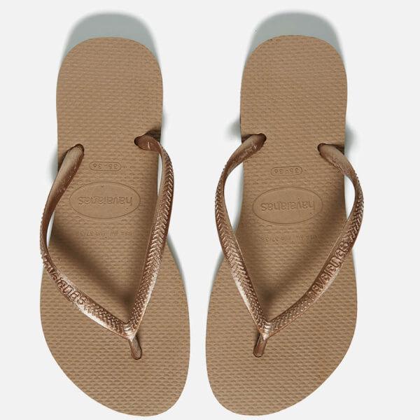 a81d94b093a Havaianas Women s Slim Flip Flops - Rose Gold  Image 1