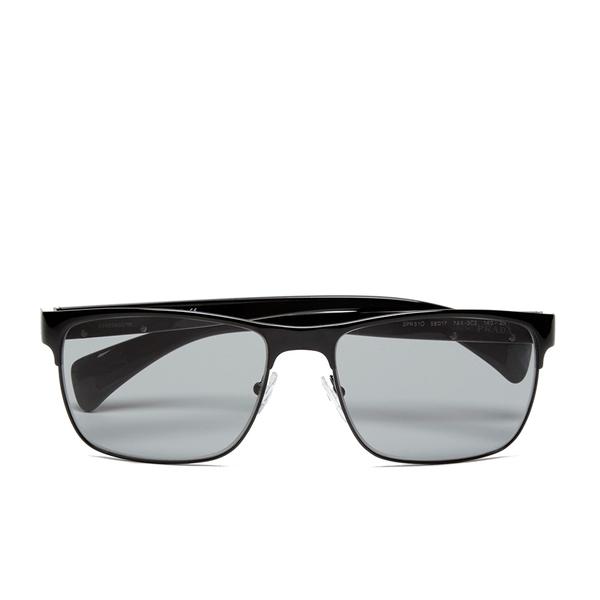 Prada Men's Conceptual Metal Sunglasses - Black