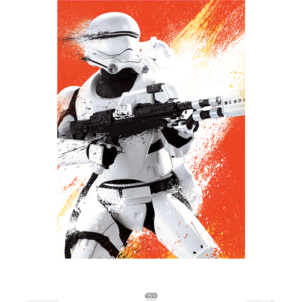 Star Wars: Episode VII - The Force Awakens Flametrooper - 60 x 80cm Paint Art Print