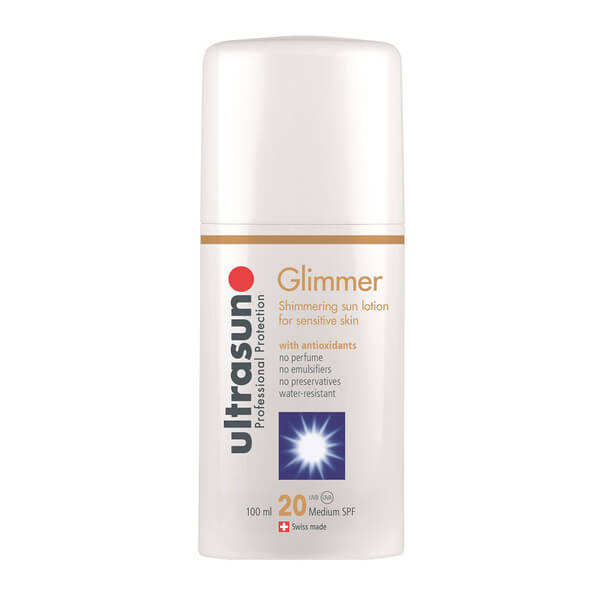 Ultrasun 20spf Sensitive Glimmer Formula