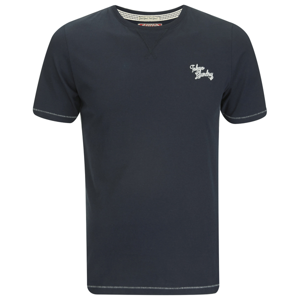 Tokyo Laundry Men's Essential Crew T-Shirt - Dark Navy