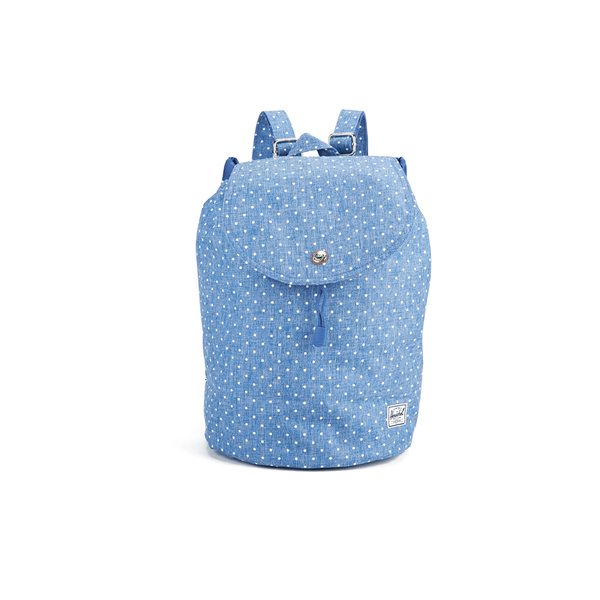 8efbde5248 Herschel Women s Reid Polka Dot Crosshatch Backpack - Light Blue  Image 1