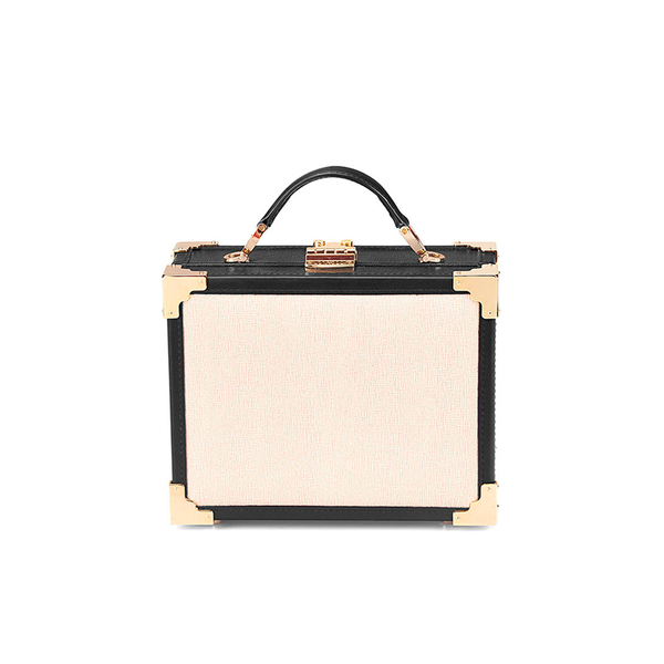 Aspinal of London Women's Mini Trunk Bag - Monochrome: Image 2