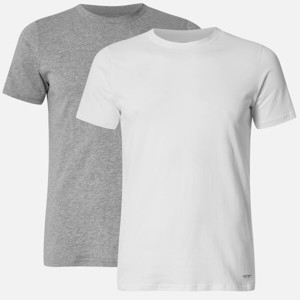 Carhartt男式Standard圆领Twin PackT恤-白色/灰色