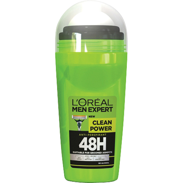Anti-transpirant à bille Men Expert Clean Power 48H de L'Oréal Paris (50 ml)