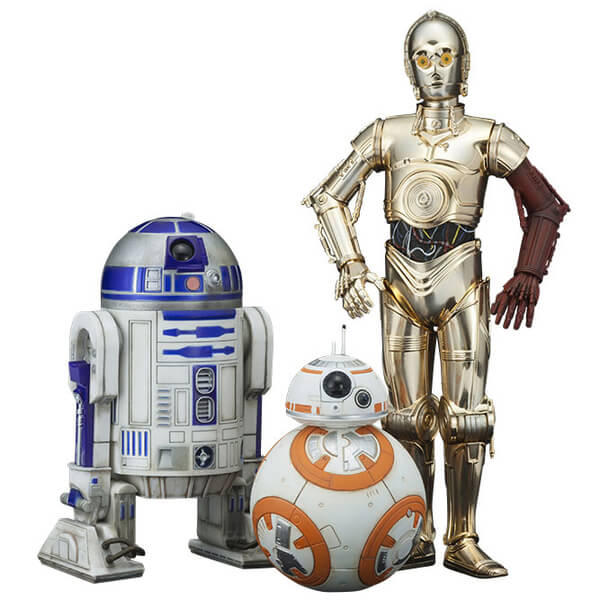 Kotobukiya Star Wars The Force Awakens C-3PO, R2-D2 And BB-8 3 Pack 1/10 Scale Figures