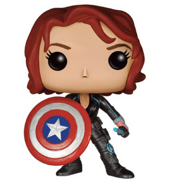 Marvel Avengers: Age of Ultron Black Widow with Cap's Shield Limited Edition Pop! Vinyl Figure