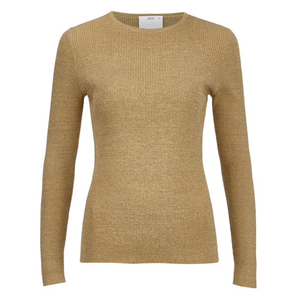 C/MEO COLLECTIVE Women's Shine On Long Sleeve Top - Gold