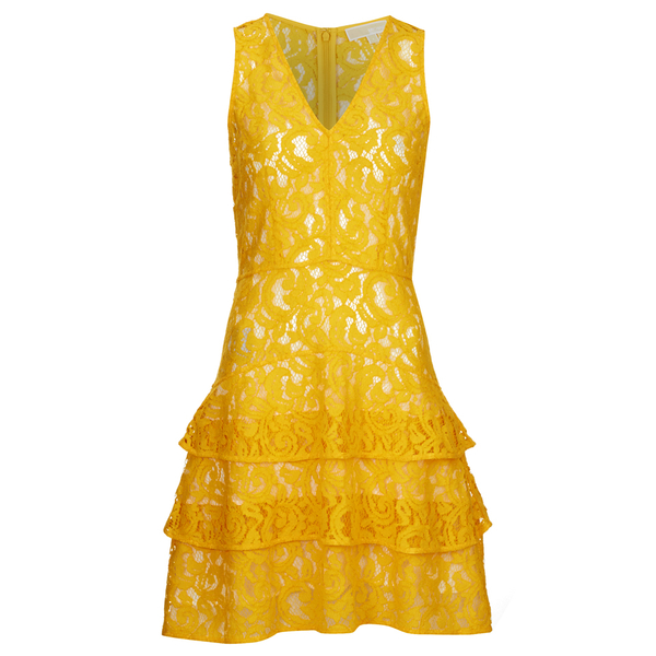 MICHAEL MICHAEL KORS Women's Lace Tier Dress - Sunflower