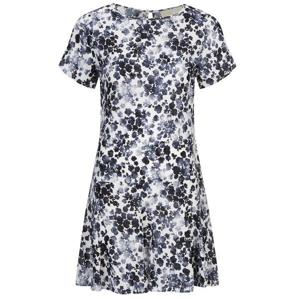 MICHAEL MICHAEL KORS Women's Gemma Silk Textured Print Dress - New Navy