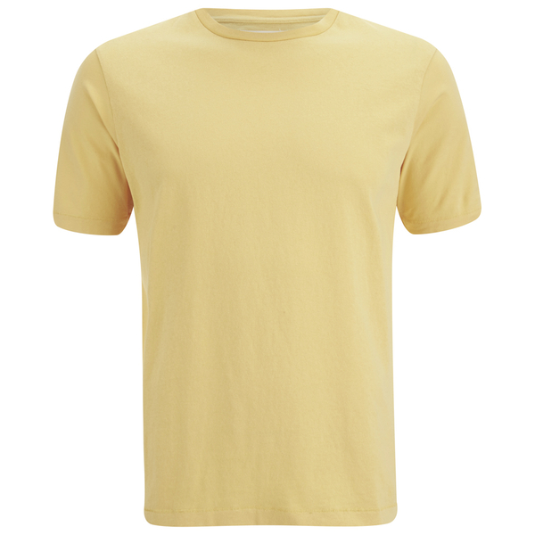 Folk Men's Plain Crew Neck T-Shirt - Washed Out Amber