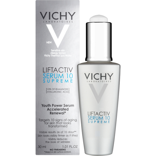 Vichy LiftActiv Serum 10 Supreme Anti-Aging Serum with Hyaluronic Acid, 1.01 Fl. Oz.