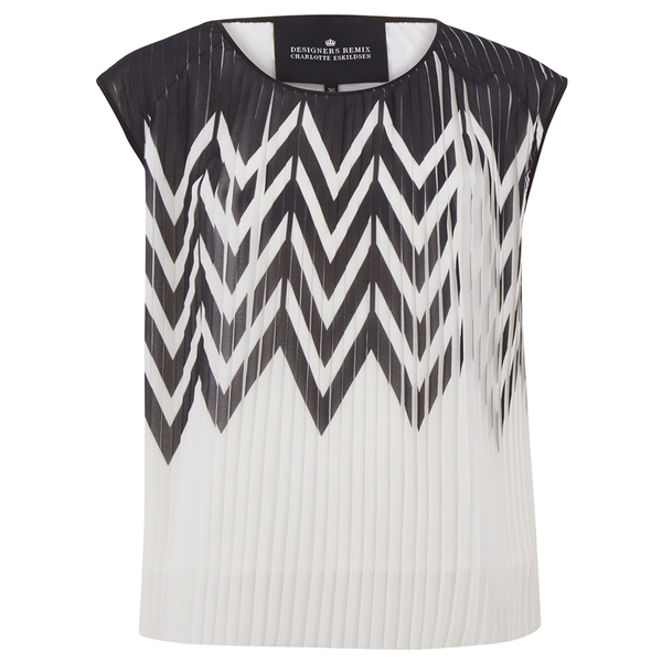 Designers Remix Women's Tilt Graphic Top - Black/White