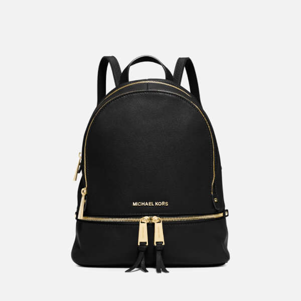 9e56d37d8e64f8 MICHAEL MICHAEL KORS Women's Rhea Zip Backpack - Black: Image 1