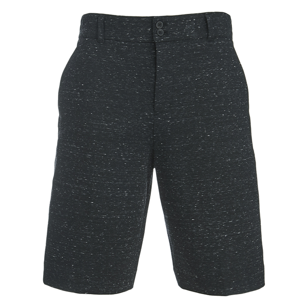 Helmut Lang Men's Tweed Ottoman Shorts - Black Heather