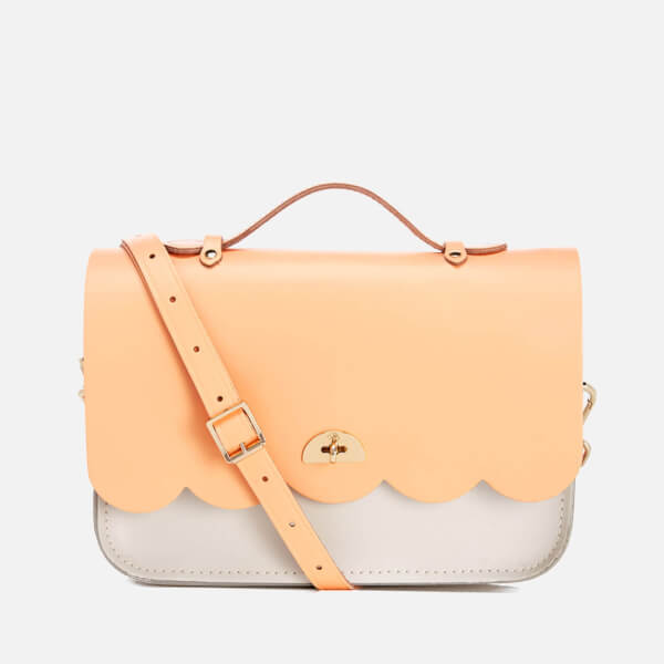 The Cambridge Satchel Company Women's Cloud Bag with Handle - Two Tone Peony Peach/Clay