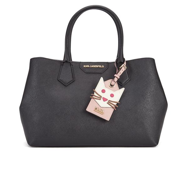 Karl Lagerfeld Women's Small K/Shopper Saffiano Bag - Black