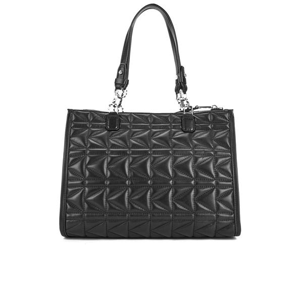 eaa7cbfb28bc Karl Lagerfeld Women s K Kuilted Tote Bag - Black  Image 5