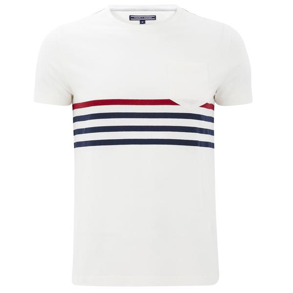 tommy hilfiger men 39 s karl striped t shirt snow white. Black Bedroom Furniture Sets. Home Design Ideas