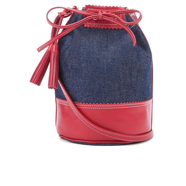 Vanessa Bruno Athe Women's Ernest Bucket Bag - Denim/Red