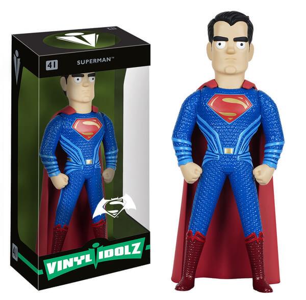 DC Comics Batman v Superman Dawn of Justice Superman Vinyl Idolz Action Figure